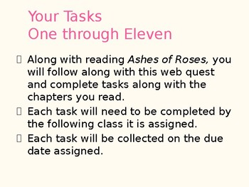 Ashes of Roses Webquest with Writing Prompts