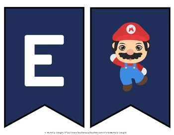Ashley B. - Super Video Game Mario Welcome Banner for Classroom