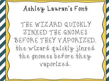 Ashley Lauran's Font