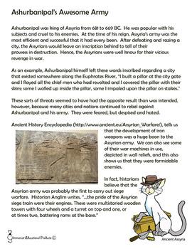 Ashurbanipal's Siege Tower