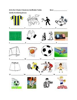 Así Se Dice 1 Chapter 5 Vocabulary Identification Practice/Quiz