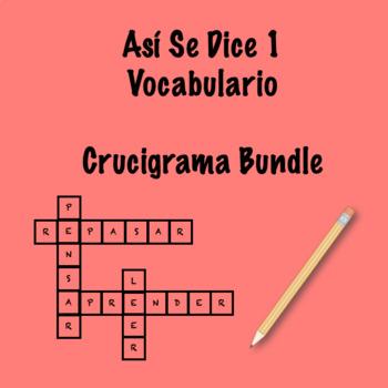 Así Se Dice 1 Vocabulary Crossword Bundle