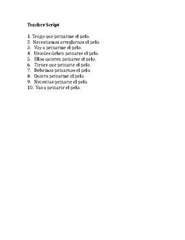 Así Se Dice 2: Capítulo 2 Listening Activity-Reflexive Verbs