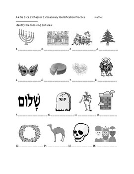 Así Se Dice 2 Chapter 5 Vocabulary Identification Practice/Quiz