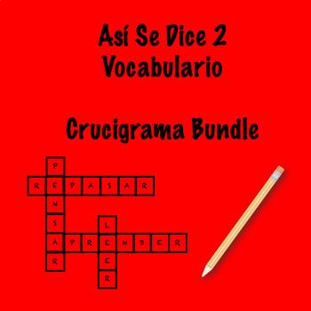 Así Se Dice 2 Vocabulary Crossword Bundle