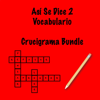 Así Se Dice 2 Vocabulary Crossword Bundle