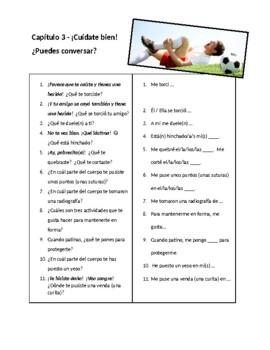 Así Se Dice 3, Chapter 2 Conversation Sheet