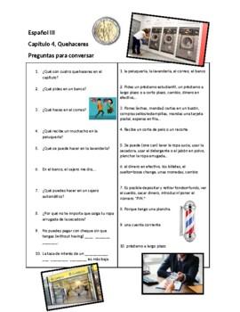 "Así Se Dice 3, Chapter 4 ""Quehaceres"" Conversation Sheet"