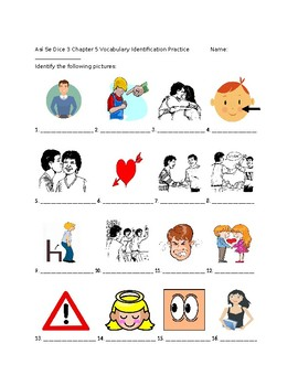 Así Se Dice 3 Chapter 5 Vocabulary Identification Practice/Quiz