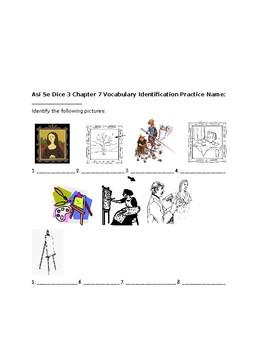 Así Se Dice 3 Chapter 7 Vocabulary Identification Practice/Quiz