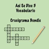 Así Se Dice 3 Vocabulary Crossword Bundle