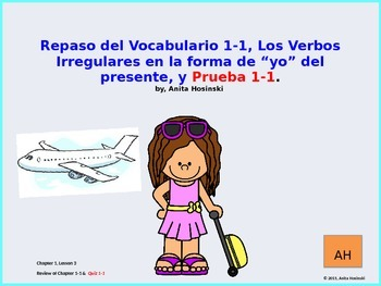 Asi Se Dice Ch 1 2nd yr Teacher Lessons on power point:  En Avión