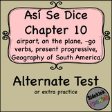Así Se Dice Chapter 10 Test