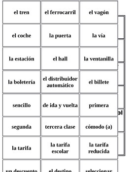 Asi Se Dice Chapter 3 Vocabulary cards
