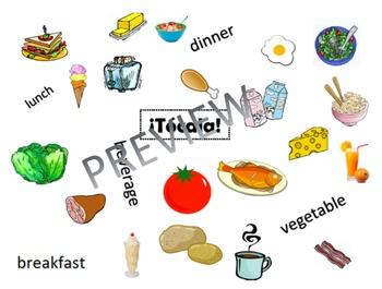 ¡Tócala! Así Se Dice Chapter 4 Picture Vocabulary Game: La Comida