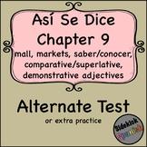 Así Se Dice Chapter 9 Test