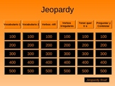 Asi Se Dice Level 3 Chapters 3 and 4 Spanish Jeopardy Game