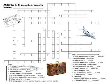 ASD2 Cap1 Present Progressive Crossword Puzzle