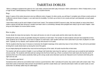 ASD2 Cap7 Vocab Game: Tarjetas Dobles