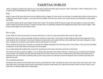 ASD2 Cap8 Vocab Game: Tarjetas Dobles (Así se dice 3)
