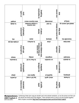 ASD3 Cap2 Vocab1 Only Puzzle Rompecabeza (Así se dice 3)