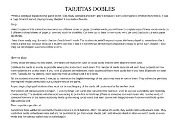 ASD3 Cap3 Vocab Game: Tarjetas Dobles (Así se dice 3)