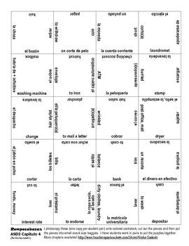 ASD3 Capítulo 4 Vocab Puzzle Rompecabeza (Así se dice 3)