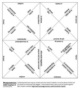 ASD3 Cap5 Vocab Puzzle Rompecabeza (Así se dice 3)