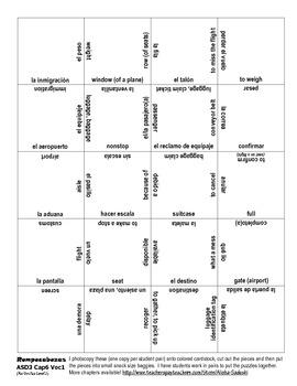 ASD3 Cap6 Vocab 1 Vocab Puzzle Rompecabeza (Así se dice 3)