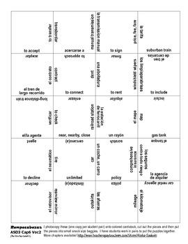 ASD3 Cap6 Vocab 2 Vocab Puzzle Rompecabeza (Así se dice 3)