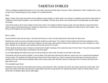 ASD3 Cap6 Vocab Game: Tarjetas Dobles  (Así se dice 3)