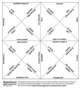 ASD3: 11 Vocab Puzzles!! Rompecabezas for Chapters 1-7 (Así se dice 3)