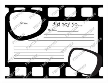 """Así Soy yo...Template to write """"about me"""""""