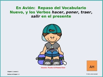 Asi se Dice Ch 1, Less2, 2nd yr Spanish:  Review of vocab 1-1 & irr verbs
