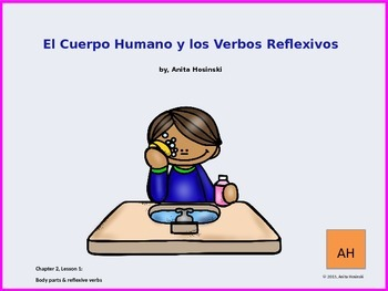 Asi se Dice Ch 2, Lesson 1 2nd yr:  body parts & reflexive verbs