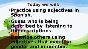 Asi se Dice Chapter 1 Los adjetivos (Descriptive Adjectives)