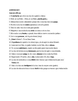 Así se dice 1, Chapter 1. Vocabulary, Exercise 1.