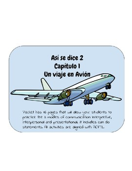 Así se dice 2. Capítulo 1. El aeropuerto. Bundle packet. Can do statements.