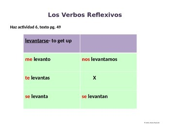 Asi se dice Ch 2, Less 3, 2nd yr spanish: regular & stem-changing reflexive vbs