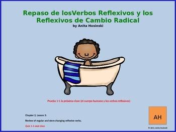 Asi se dice Ch 2, Less 3, 2nd yr spanish: regular & stem-c