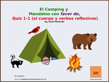 Asi se dice Ch 2, Less 4, 2nd yr spanish:  camping & commands with favor de