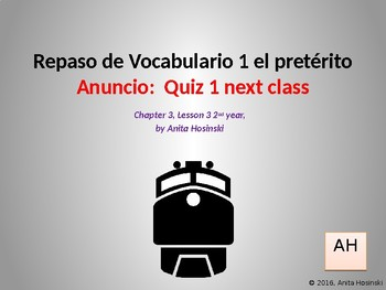 Asi se dice Chapter 3, lesson 3 2nd year