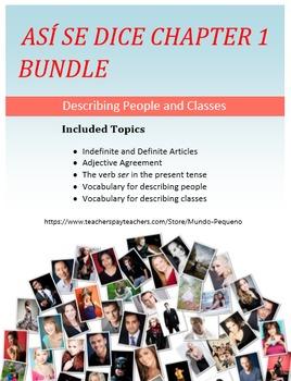 Así se dice Level 1, Chapter 1 Resource BUNDLE Describing People