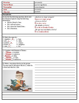 Asi se dice! Level 1 Chapter 1 Vocabulary 1.1 Cornell Notes