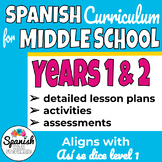 Lesson Plans for Middle School Spanish Years 1 & 2 (Así se dice)