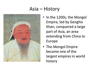 Asia Geography and History PowerPoint Presentation