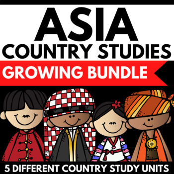 Asia Continent Study Unit Mini Book