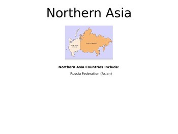 Asia - A World Region PowerPoint