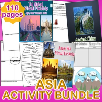 Asia Activity *Bundle* (Geography) South Asia, East Asia, Southeast Asia
