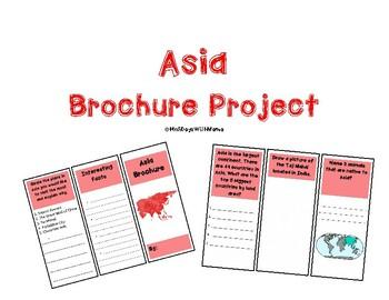Asia Activity (Make a Brochure)